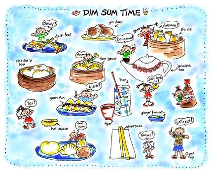 """One of several dim sum t-shirts on offer circa 2014 as part of the """"Too Cute Series."""" (image courtesy of Smilin' From Ear to Ear)"""