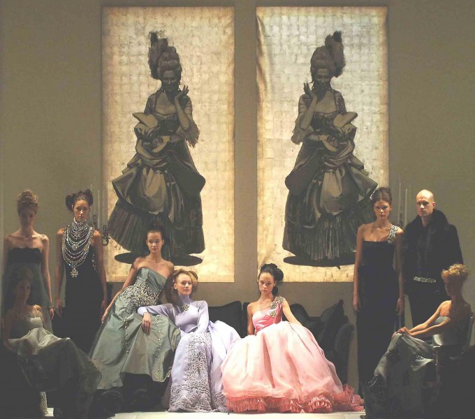 "A figurative world away from the Bryant Park: the Zang Toi Fall 2006 ""Uptown Chic""collection. (photo courtesy of Zang Toi)"