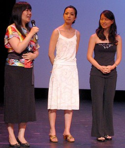 "Director Narhee Ahn, and actresses Jae W. Suh (Naomi) and Susane E. Lee (Grace) following the East Coast Premiere of ""Purity"" on July 14, 2006. (photo by Yuan-Kwan Chan / Meniscus Magazine)"