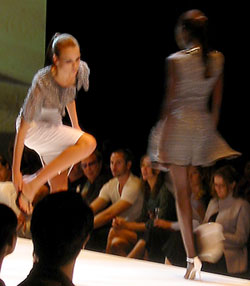 These boots weren't made for walking at the Esteban Cortazar show. (photo by Yuan-Kwan Chan / Meniscus Magazine)