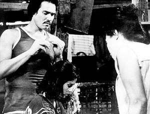Ruel Vernal as Dado, Hilda Koronel as Insiang, and Mona Lisa as Tonia. (photo: Cine Manila Artist/Photofest)