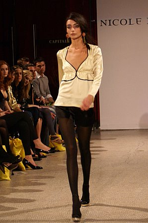 An outfit from the Nicole Romano Fall 2007 collection. (photo by Bibs Teh / Meniscus Magazine)
