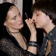 """For the Y & Kei Fall 2007 show, the aim for the models' hair was a """"sleek"""" look, while the make-up was overheard as a """"bronze, bronze, bronze."""""""