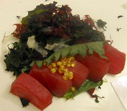 Angel Tears adorn savory sashimi. (photo by Yuan-Kwan Chan / Meniscus Magazine)