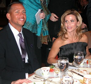 "Alex and Cynthia Rodriguez at the AROD Family Foundation ""Haute Lunch"" event on Sept. 5, 2007. (photo by Yuan-Kwan Chan / Meniscus Magazine)"