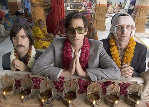 Jason Schwartman (left), Adrien Brody and Owen Wilson play the Whitman brothers in Wes Anderson's newest film. (photo by James Hamilton)