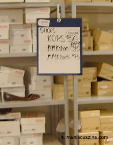 Dropping like flies: The prices of those Michael Kors and MMK shoes. (photo by Yuan-Kwan Chan / Meniscus Magazine)