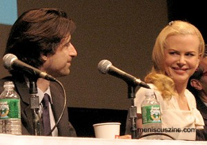 Director Noah Baumbach and Nicole Kidman (Margot) at a New York Film Festival press conference promoting the film. (photo by Christopher Bourne / Meniscus Magazine)