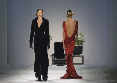 "A couple of outfits from Zang Toi's ""An American Collection"" for Fall 2008. (photo: Kwai Chan / Meniscus Magazine)"