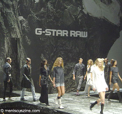 The G-Star Raw Spring 2009 runway show took place at the Park Avenue Armory in New York. (photo by Cindy Cornelio for Meniscus Magazine)