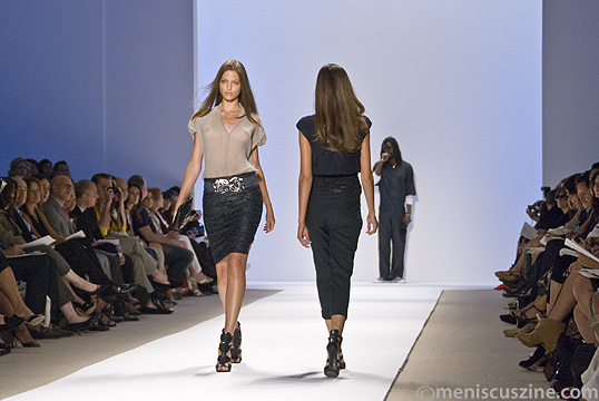 Models walk the runway as actor/singer Seu Jorge performs. (photo by Kwai Chan / Meniscus Magazine)