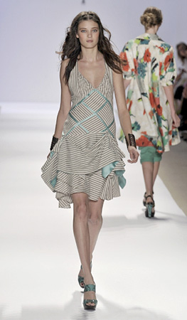 One of Lepore's dresses from her Spring 2009 collection. (photo courtesy of Mercedes-Benz Fashion Week)