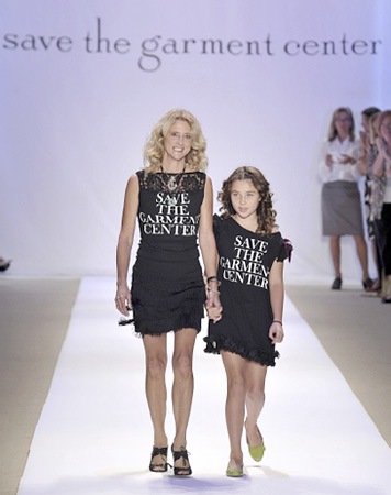 The designer and her daughter walk the runway. (photo courtesy of Mercedes-Benz Fashion Week)