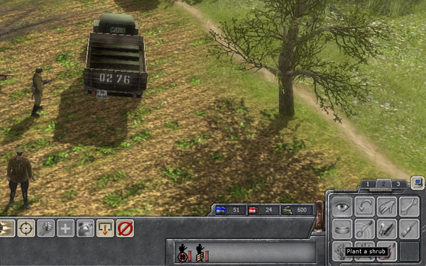 The most important button in the game. (screenshot from Faces of War)