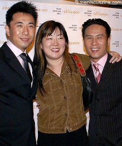 James Kyson Lee, Margaret Cho and B.D. Wong. (photo by Bibs Teh / Meniscus Magazine)