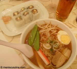 Sushi and tea, ramen and mi...so. (photo by Yuan-Kwan Chan / Meniscus Magazine)