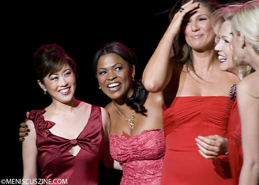 Kristi Yamaguchi, Nia Long and Daisy Fuentes after The Heart Truth 2009 show. (photo by Kwai Chan / Meniscus Magazine)