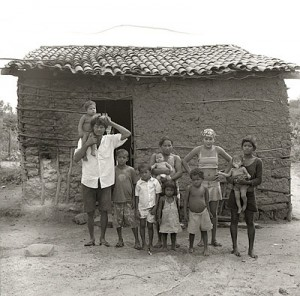 "One of the families living in extreme poverty profiled in Jose Padilha's documentary ""Garapa."" (Credit: Alexandre Lima)"