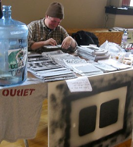 The Outlet Zine booth. (photo: Yuan-Kwan Chan / Meniscus Magazine)