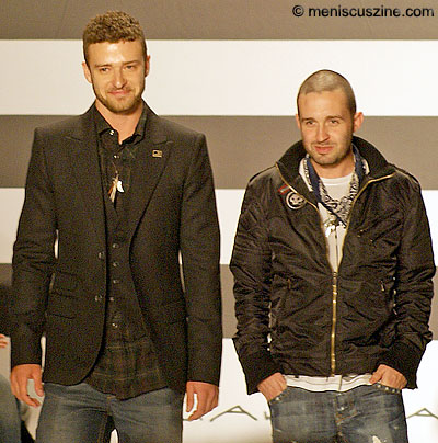 William Rast designers Justin Timberlake (left) and Trace Ayala. (photo by Bibs Teh / Meniscus Magazine)