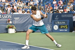 Juan Martin Del Potro during his semifinal against Fernando Gonzalez at the 2009 Legg Mason Tennis Classic. (photo by Kwai Chan / Meniscus Magazine)