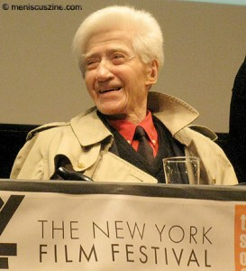 "Director Alain Resnais at a press conference for ""Wild Grass"" on Sept. 25, 2009. (photo by Christopher Bourne)"