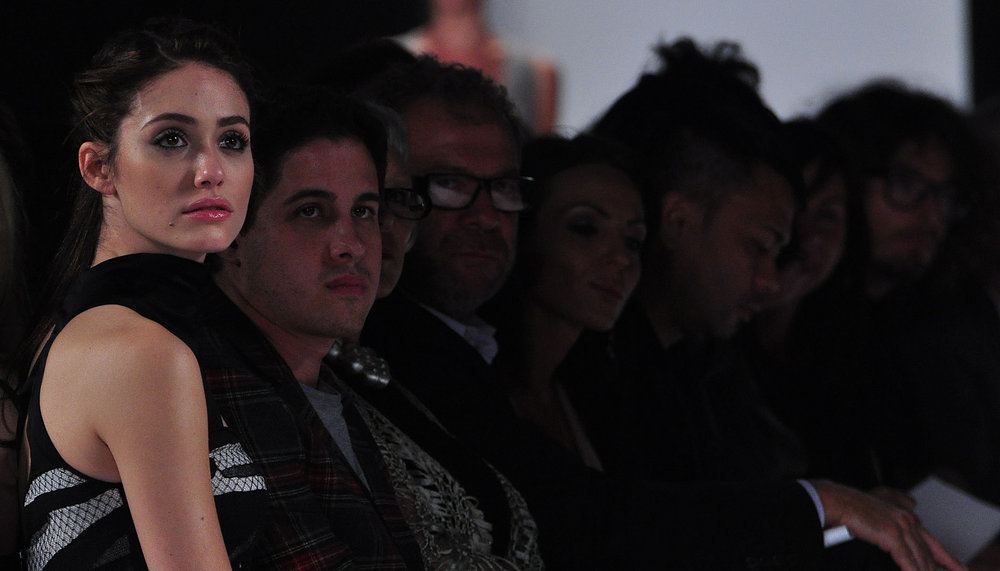 Emmy Rossum at the Narciso Rodriguez show. (photo by Bibs Teh / Meniscus Magazine)