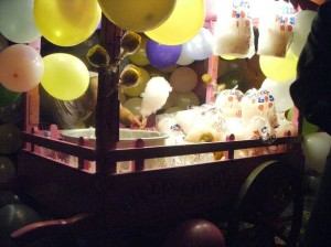 Cotton candy and balloons galore at the Mulberry party. (photo by Yuan-Kwan Chan / Meniscus Magazine)