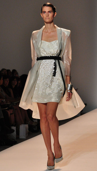 An outfit from the Thuy Spring 2010 runway show in New York. (photo by Bibs Teh / Meniscus Magazine)