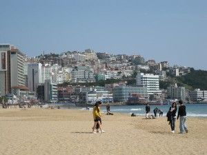 Haeundae Beach. (photo by Christopher Bourne / Meniscus Magazine)