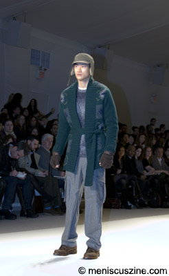 Philip walking in the Perry Ellis show at New York Fashion Week Fall 2008. (photo by Kwai Chan / Meniscus Magazine)