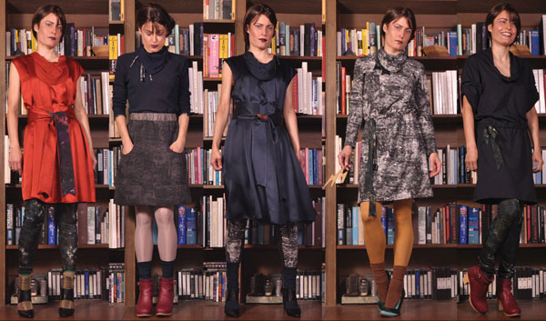 "Five looks from Feral Childe's ""The Lightning Fields"" Fall 2010 collection. (photo courtesy of Feral Childe)"