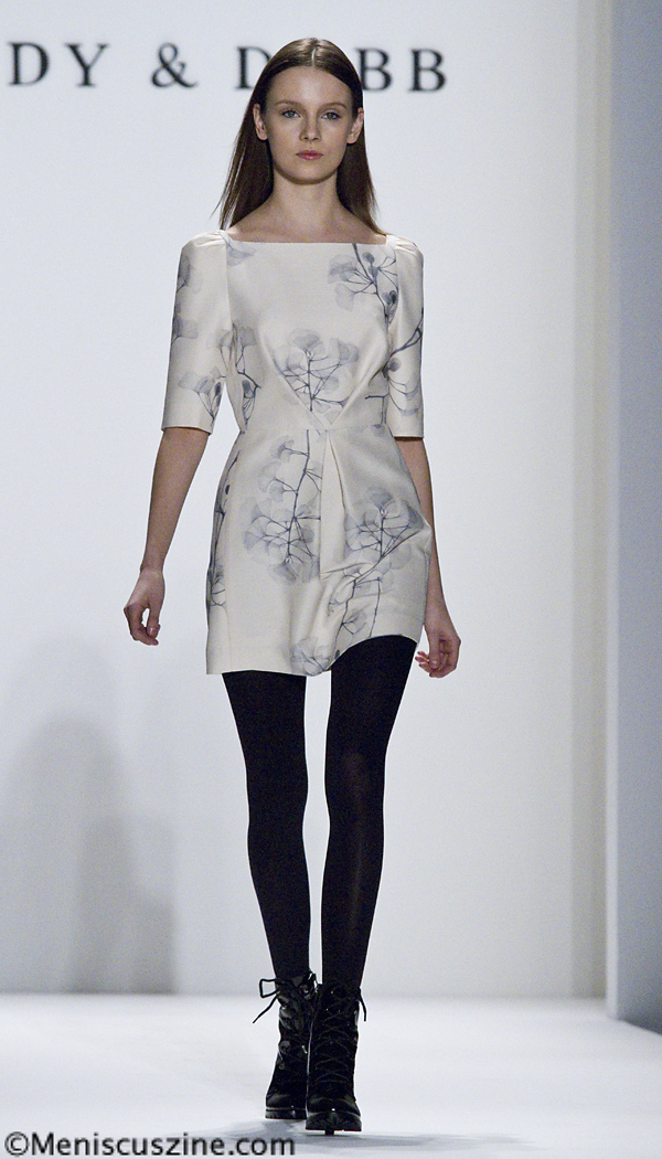 An outfit at the Andy & Debb Fall 2010 runway show in New York. (photo by Kwai Chan / Meniscus Magazine)