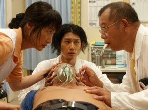"(L-R) Kimiko Yo, Eita, and Tsurube Shofukutei in Miwa Nishikawa's ""Dear Doctor."" (Photo: © 2009 ""Dear Doctor"" Production Committee)"