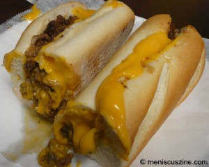 A Whiz Witout. In other words, with Cheese Whiz, without onions. (photo: Scott Miller / Meniscus Magazine)