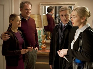 "Jodie Foster, John C. Reilly, Christoph Waltz and Kate Winslet in ""Carnage."" (photo courtesy of the New York Film Festival)"
