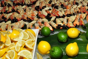 Stone crab and not much else at the Hotel Gansevoort. (photo by Bibs Teh / Meniscus Magazine)