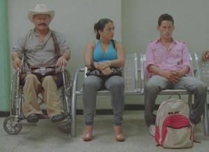 "(L-R) Porfirio Ramirez Aldana, Yor Jasbleidy Santos Torre and Jarlinsson Ramirez Reinoso in Alejandro Landes' ""Porfirio."" (Photo: New Directors/New Films)"