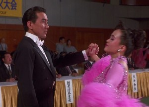 Koji Yakusho (left) tries to find his footing in a ballroom dance competition. (photo courtesy of JAPAN CUTS)