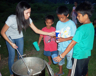 We received so many great stories that it was difficult to narrow it down to three winners, so we are taking the opportunity to highlight a couple more. Several readers shared photos, including Karen Chayne Buenaventura (left), whose church prepared food and outreach activities for children. (photo courtesy of Karen Chayne Buenaventura)