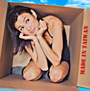 """Michelle Krusiec plays herself...and the rest of her family in """"Made in Taiwan,"""" a one-woman show playing at the 2010 New York International Fringe Festival. (photo by Mimi Haddon)"""