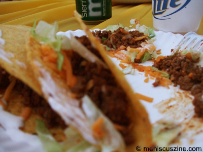 Weapons of mass descruction: nuclear tacos will leave a mark. (photo by Wade-Hahn Chan / Meniscus Magazine)