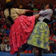 """In 2005, Betty M. Park bought a magazine at an airport terminal kiosk in Bolivia. Within the pages of Etiqueta Negra was a photo essay on """"cholita"""" (indigenous women) wrestlers. […]"""