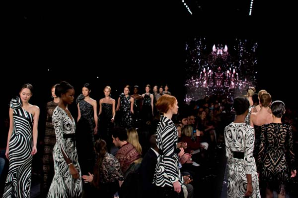 Naeem Khan showed his Fall 2012 collection at Lincoln Center on Feb. 14, 2012. (photo by Bibs Teh / Meniscus Magazine)