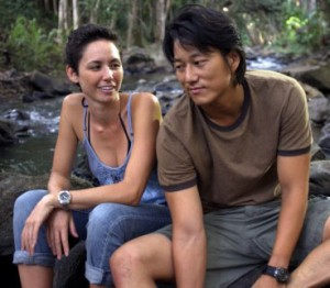 """Kimberly-Rose Wolter (left, as Lily) wrote the screenplay for """"Knots."""" Sung Kang (right, as Kai) also starred in Justin Lin's """"Better Luck Tomorrow"""" and """"Finishing the Game."""" (photo courtesy of the San Diego Asian Film Festival)"""