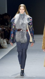 A look from Vivienne Tam's Mongolia-inspired Fall 2012 collection. (photo by Kwai Chan / Meniscus Magazine)