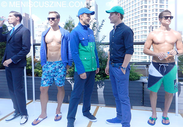 Several looks from the Nautica Spring 2013 presentation at the Empire Hotel Rooftop. (photo by Yuan-Kwan Chan / Meniscus Magazine)