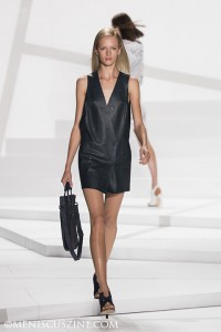 A look from the Lacoste Spring/Summer 2013 runway show at New York Fashion Week. (photo by Kwai Chan / Meniscus Magazine)