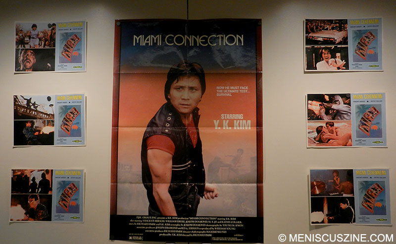 "Promotional materials featuring Grandmaster Y.K. Kim and ""Miami Connection"" at the 2012 New York Asian Film Festival. (photo by Yuan-Kwan Chan / Meniscus Magazine)"