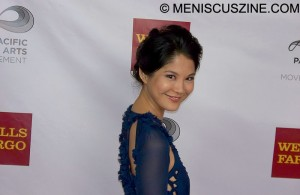 Actress Lynn Chen on the red carpet. (photo by Jim Higgins / Meniscus Magazine)